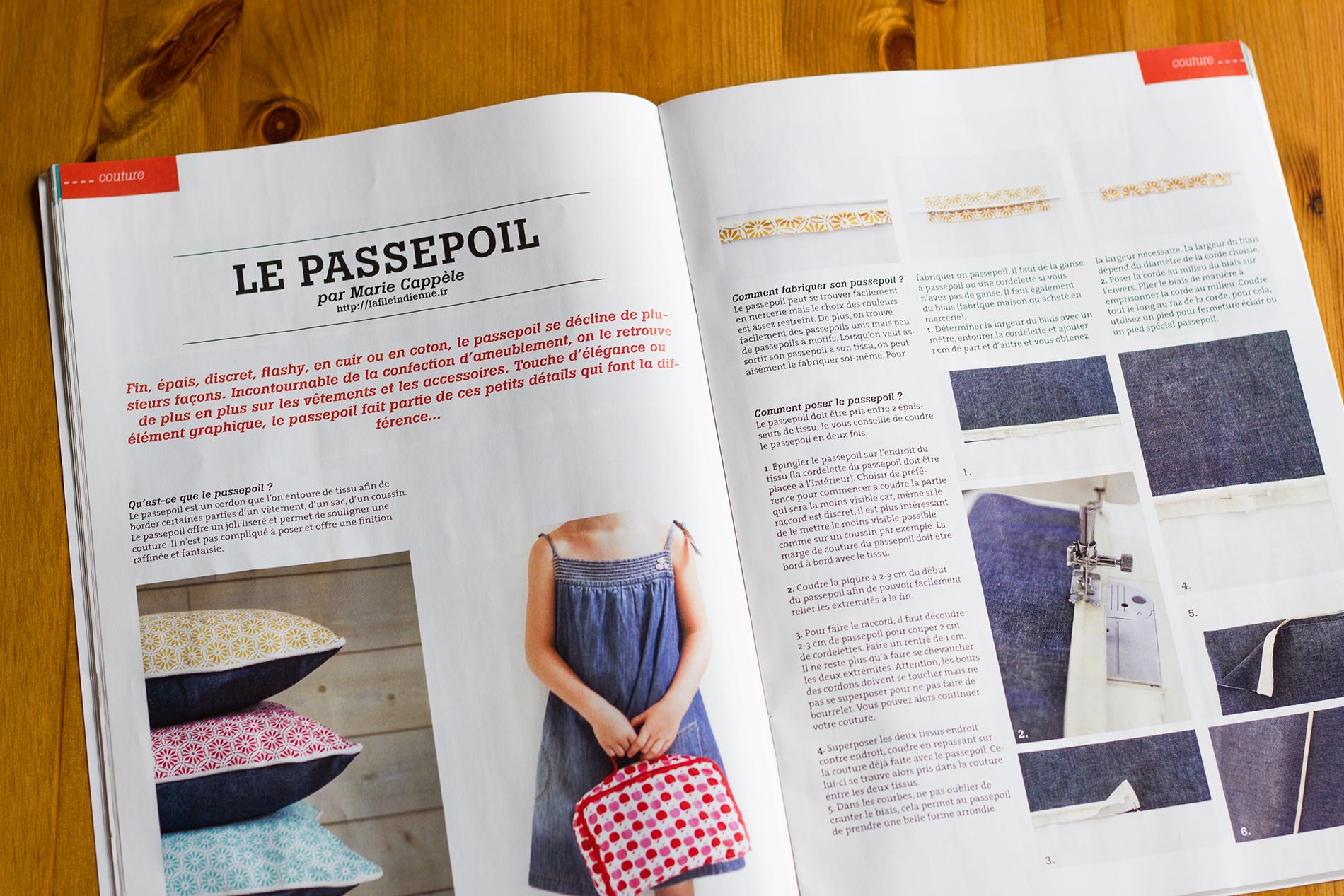 comment poser un passpoil, extrait Couture & DIY