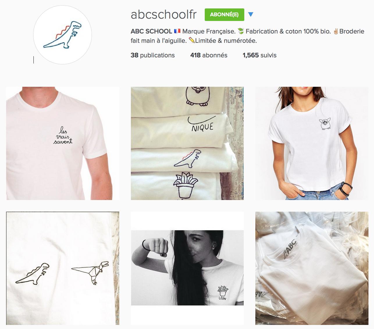 compte instagram de abcschool