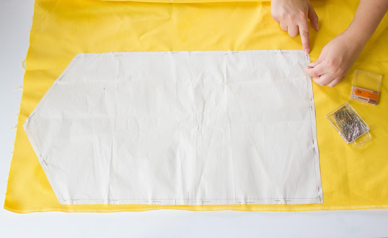 Tuto coupe tissu diy enveloppe