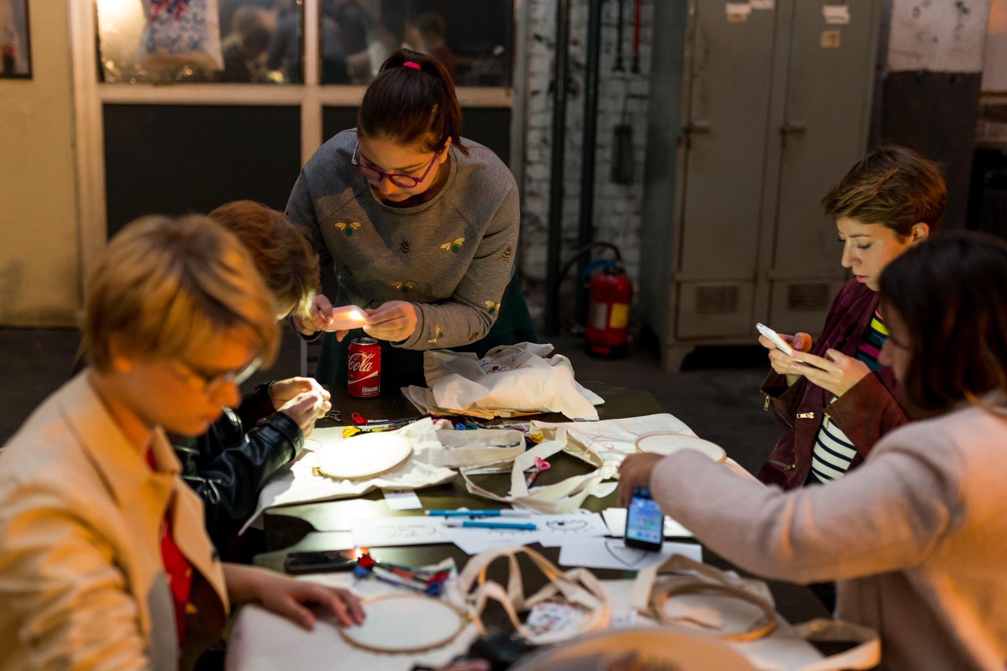 atelier broderie animé par Margaux Faes Couture débutant