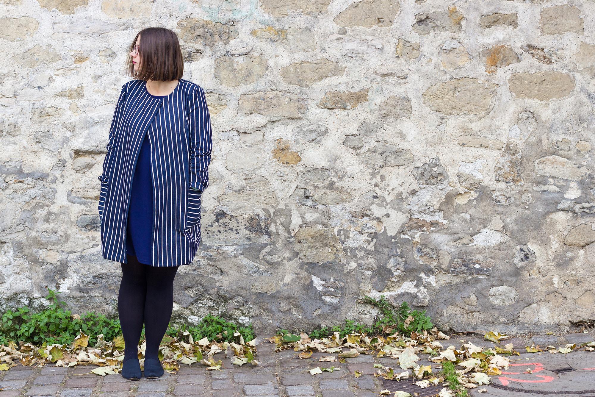 manteau d'automne cousu main