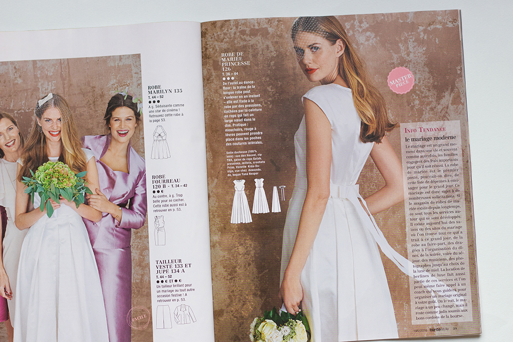 collection mariage burda style mars 2016