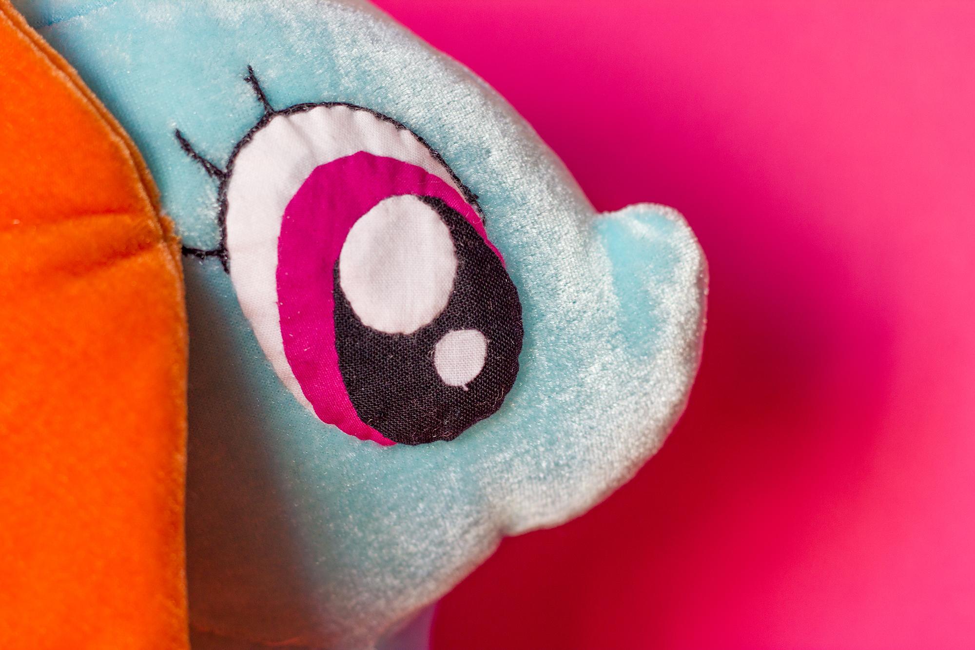 gros plan oeil du petit poney