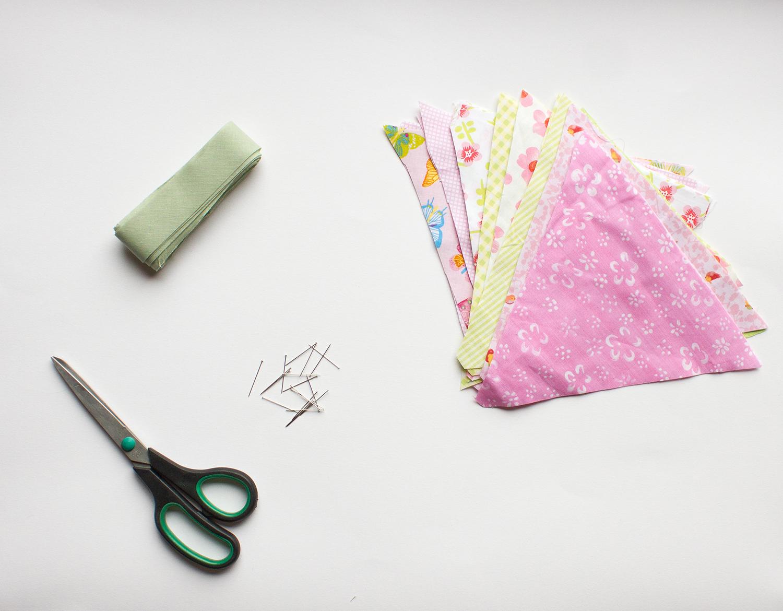 Matériel pour réaliser des fanion couture facile
