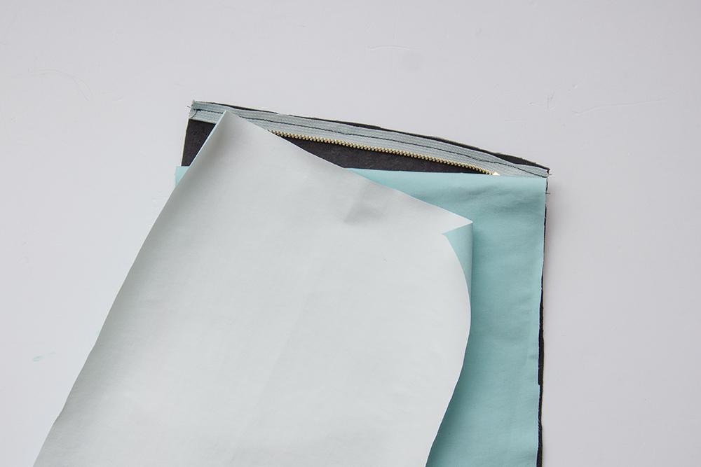 comment coudre une fermeture eclair sur une pochette