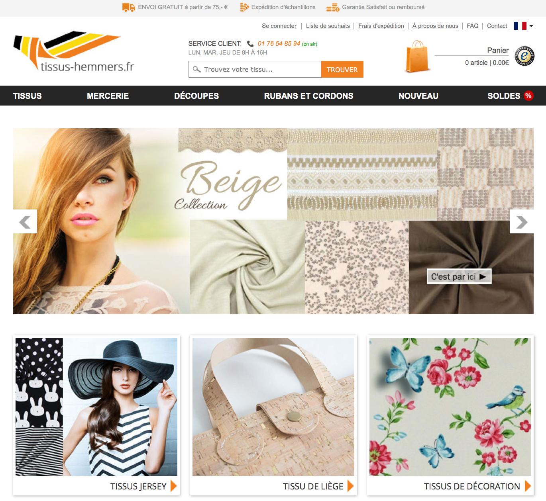 tissus hemmers un site pour acheter du tissu en ligne