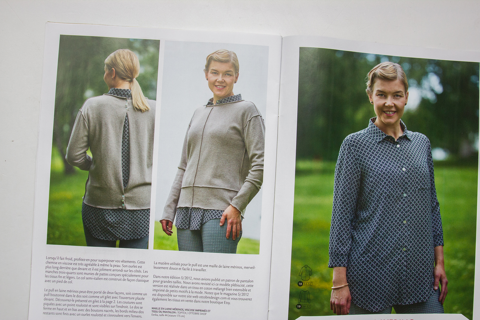 Magazine patron de couture femme Ottobre 2016