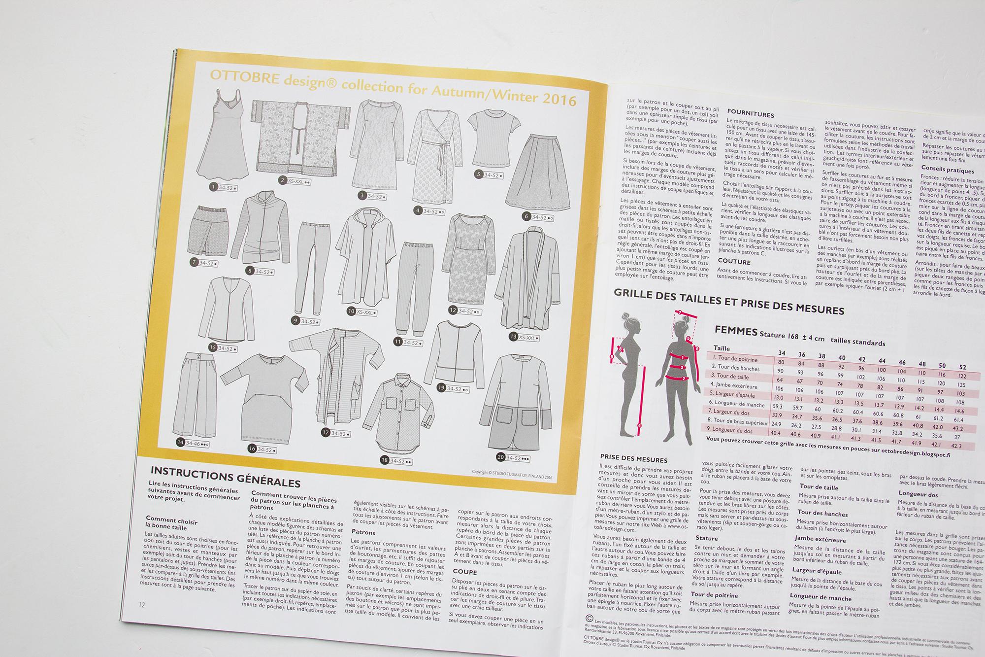 Ottobre modèle t-shirt 2016