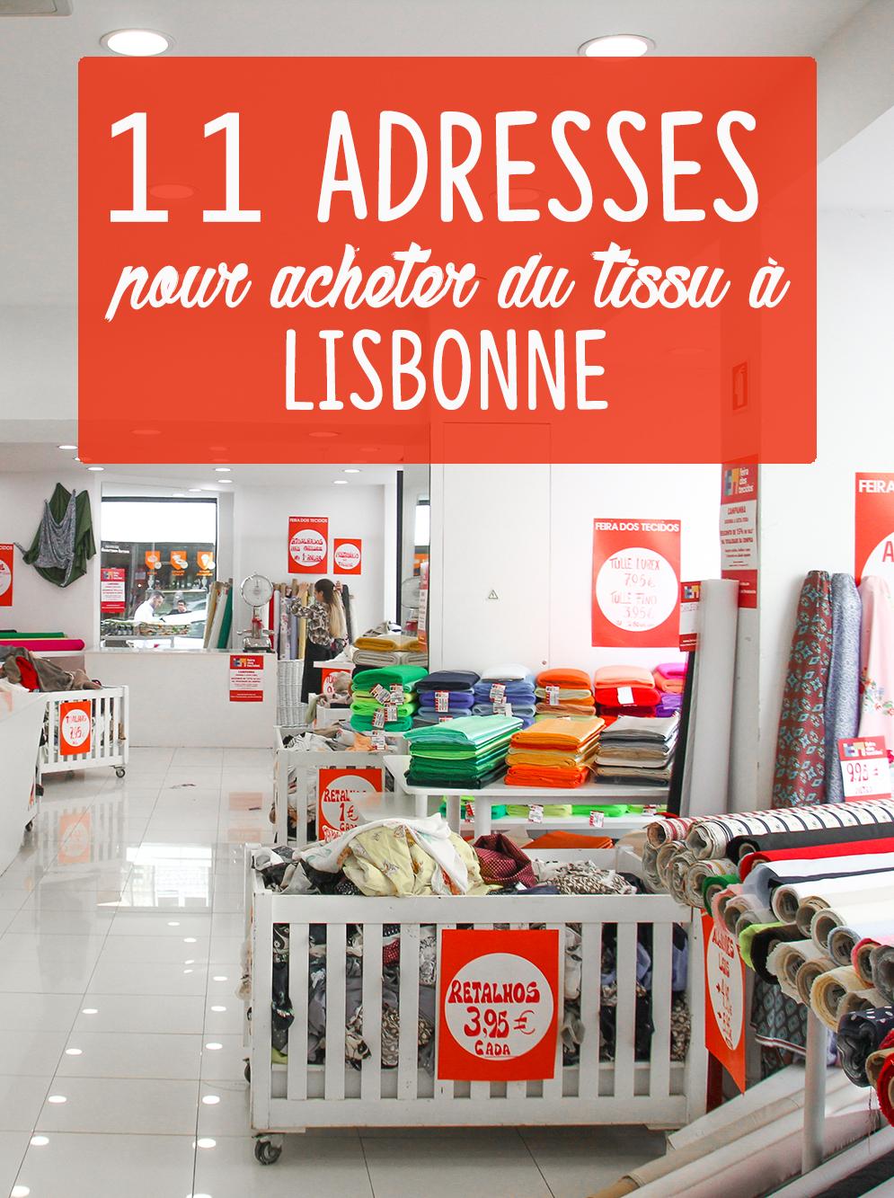Vlog couture lisbonne mes bonnes adresses tissu et mercerie au portugal