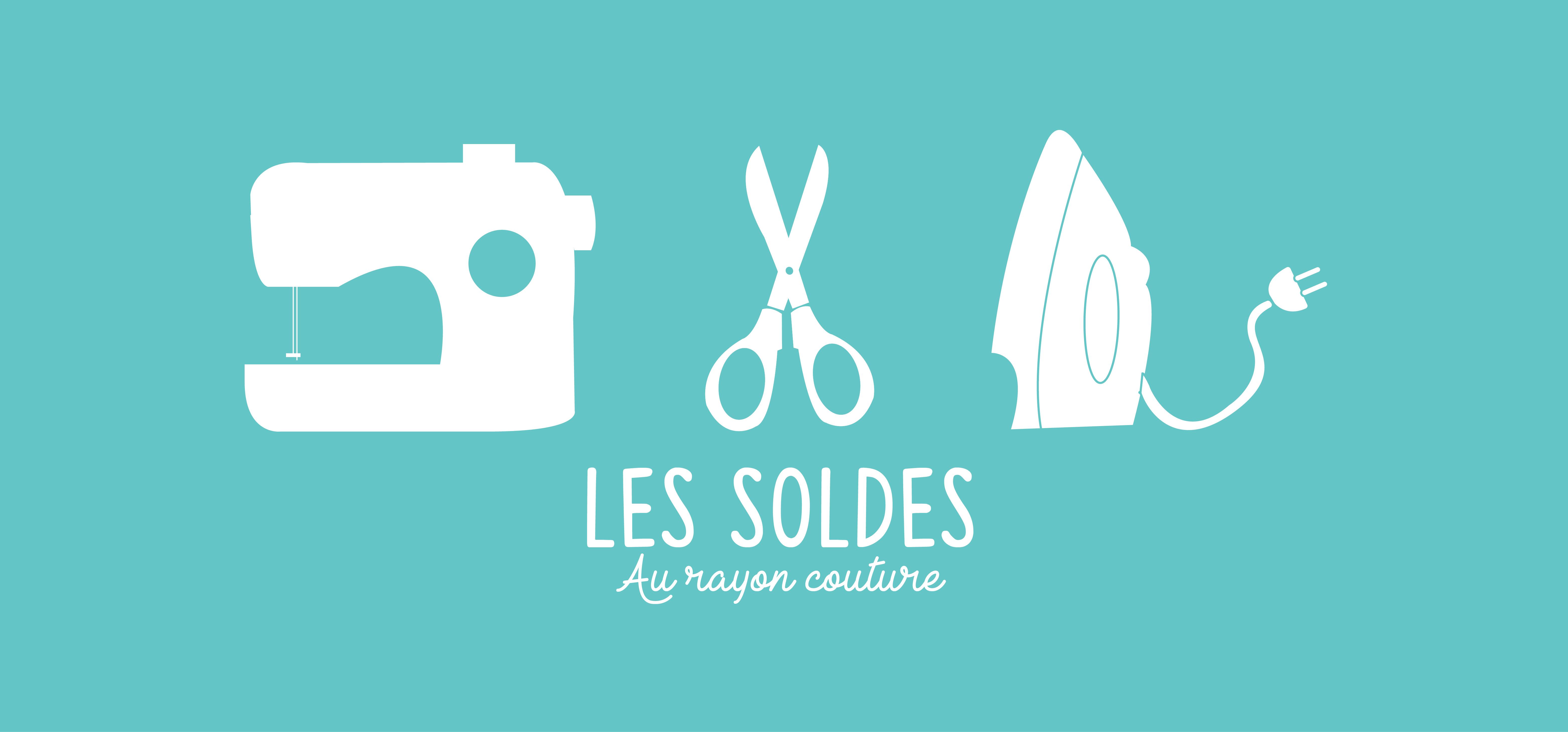 Selection de produits soldé au rayon couture et machine à coudre