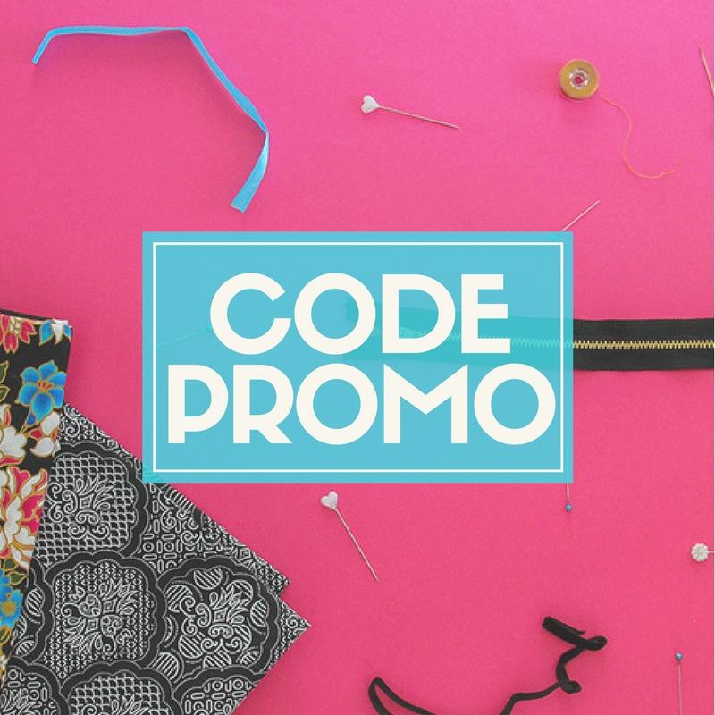 Code promo, réduction astuce pour matériel couture, tissu