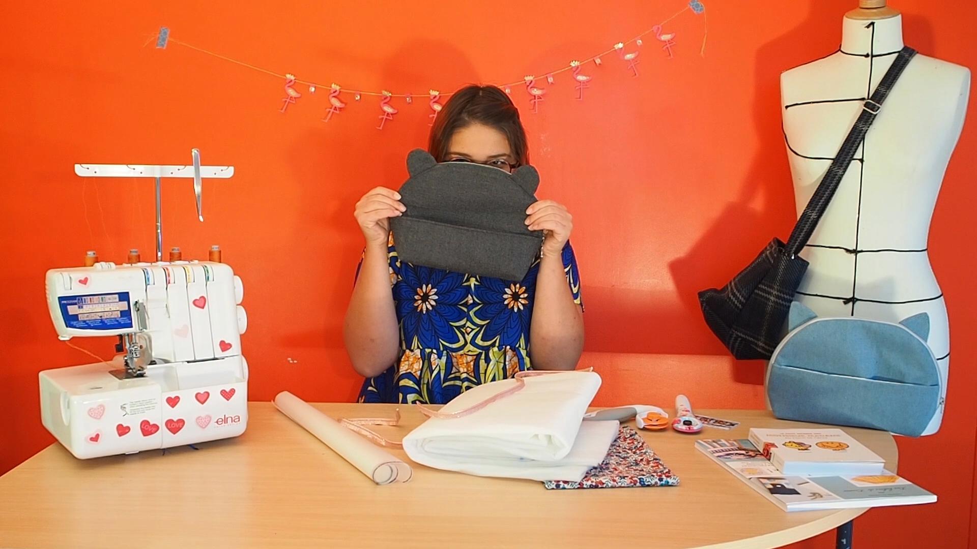 Mia, patrond de pochette pour débutant couture petit patron