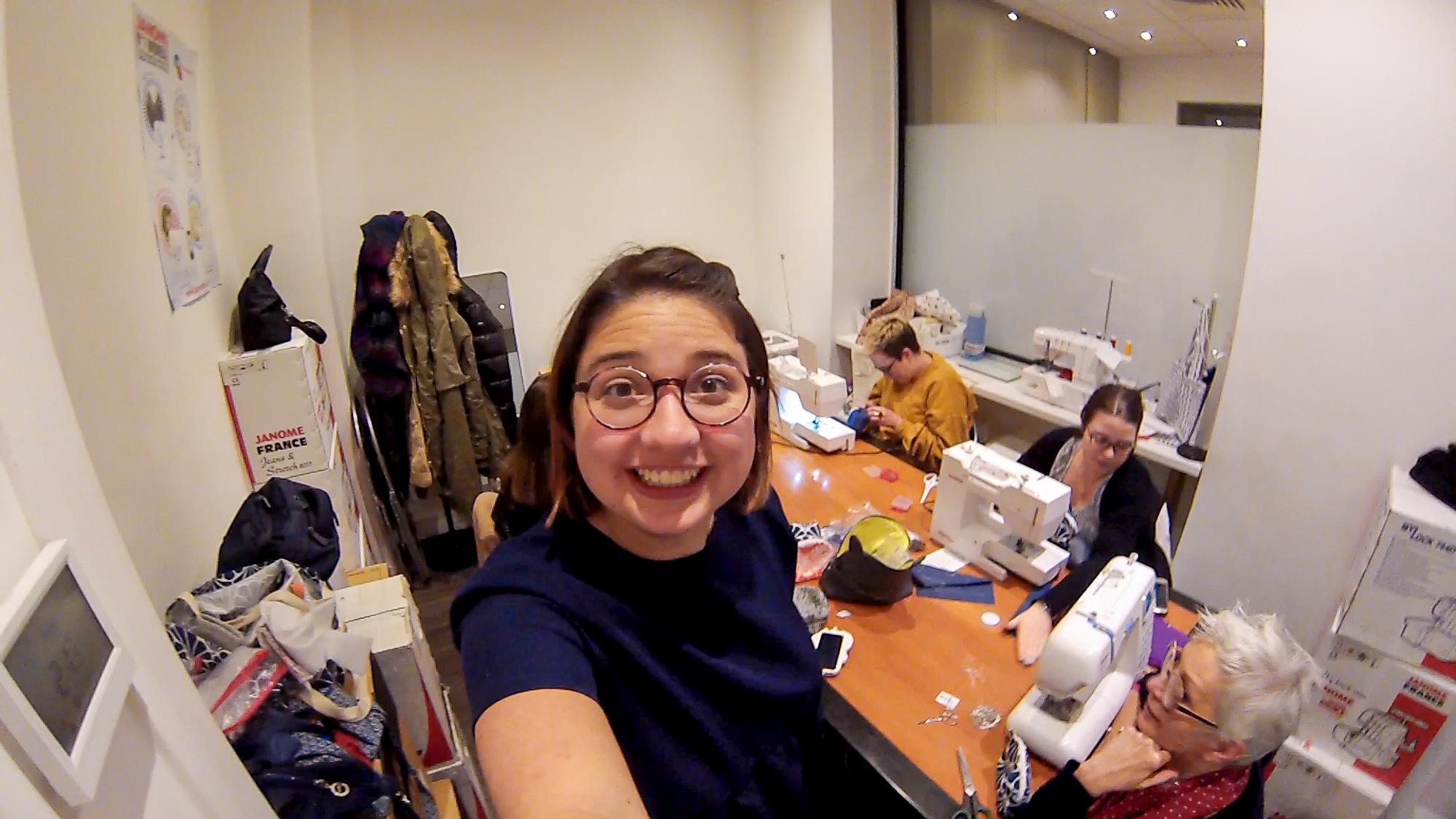 Coulisse : 1 journée avec moi en atelier couture débutant