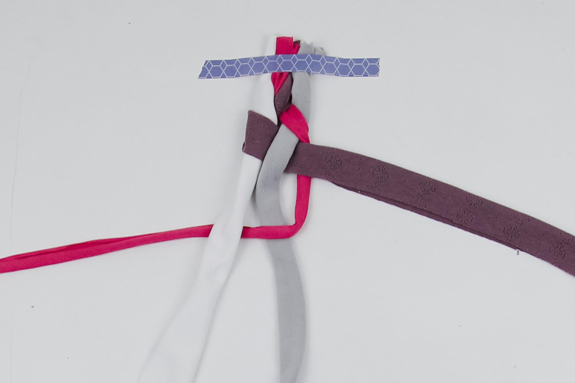 Tuto headband tresse à 4 brins