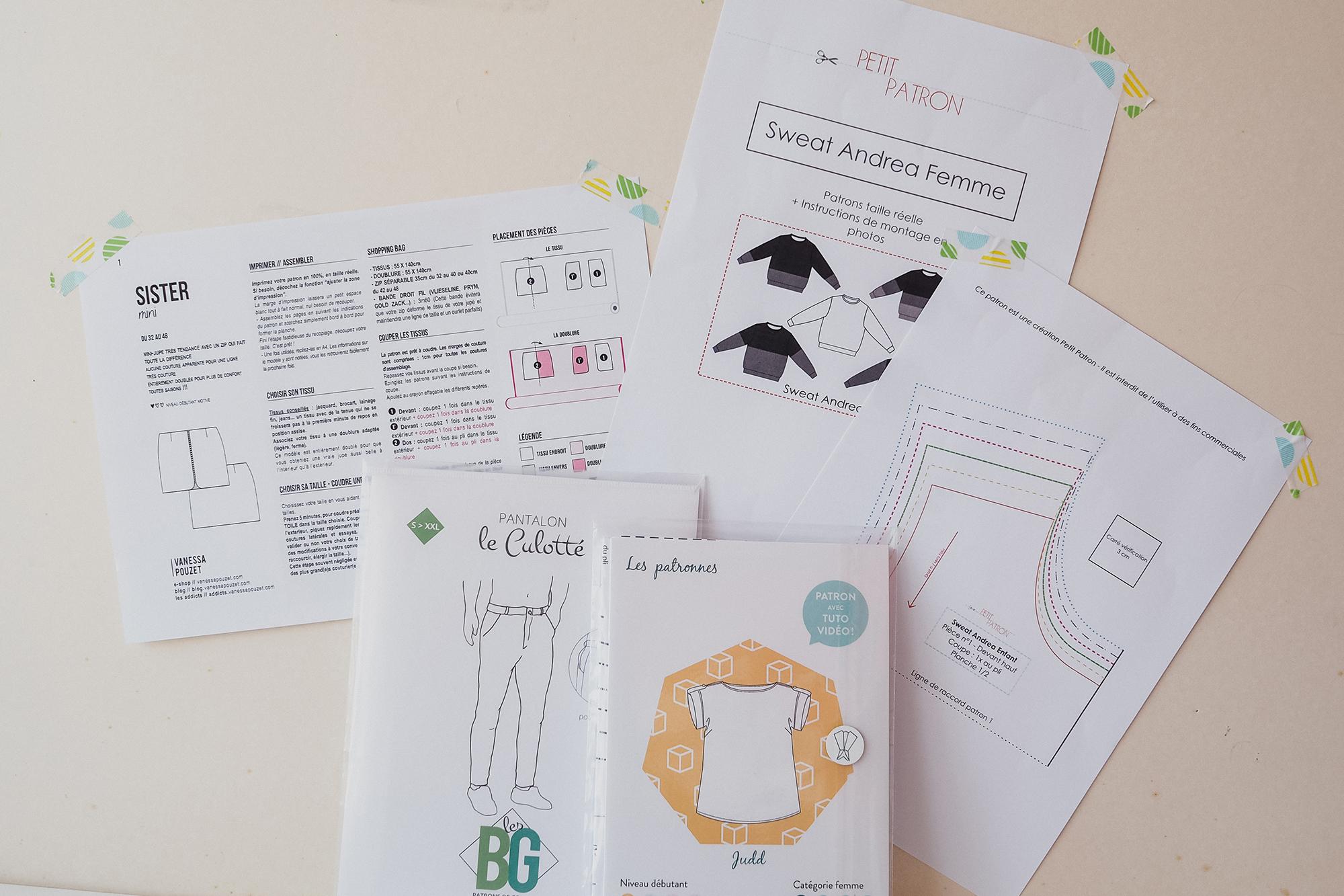 Différence entre les patrons couture -couture débutant