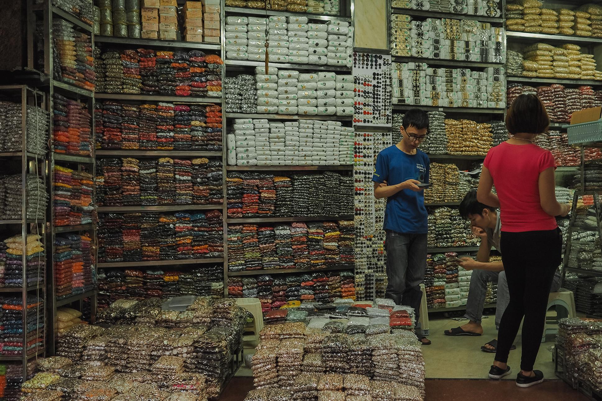 Boutique de boutons couture à hanoi