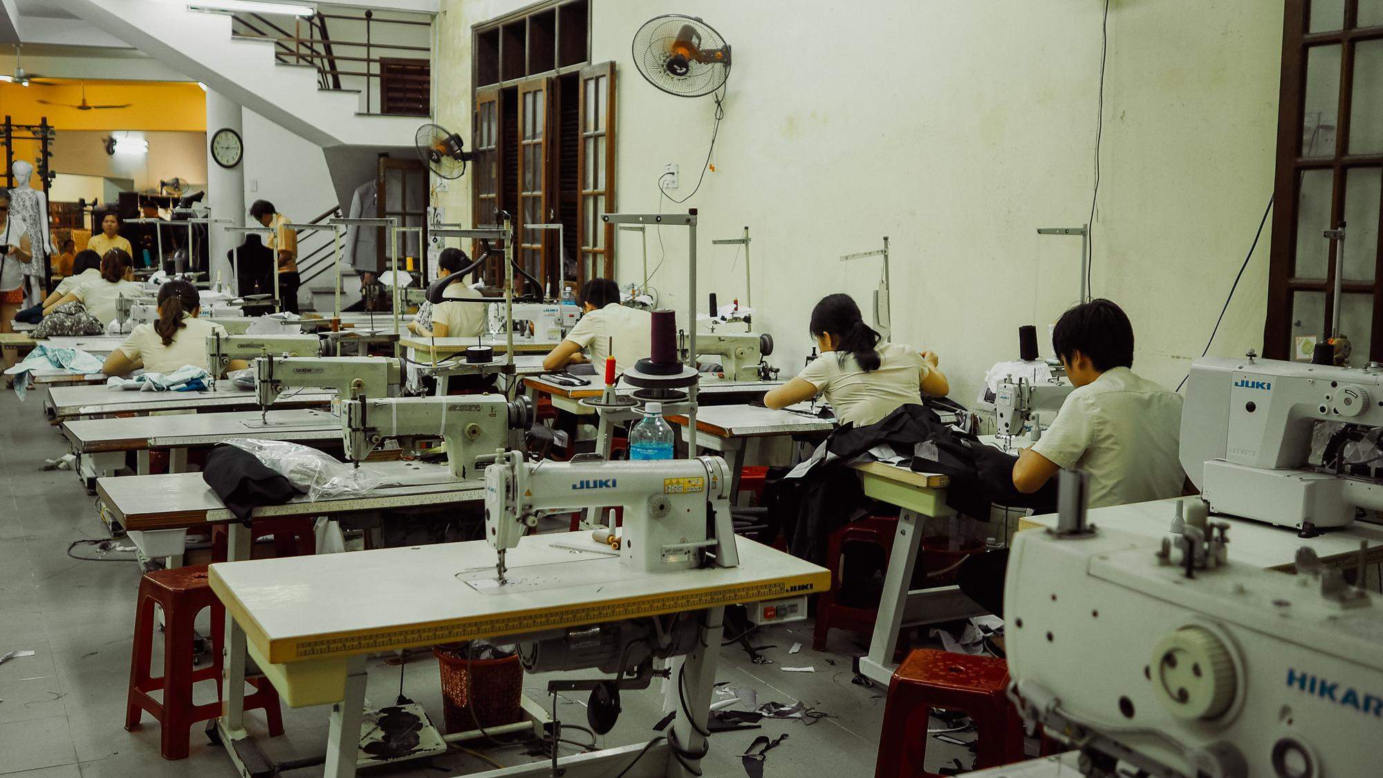 Atelier de couture à Hoi An vietnam