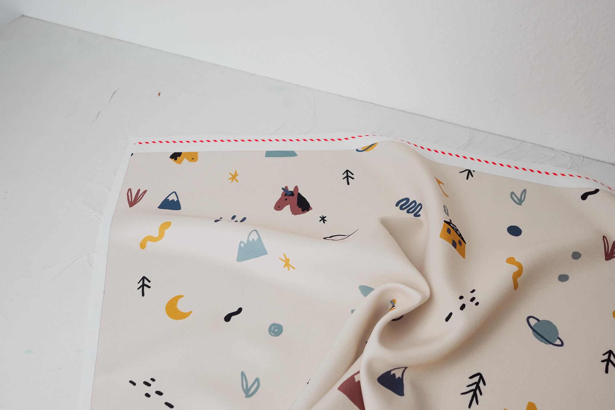 test du tissu imprimé sur mesure contrado par couture débutant