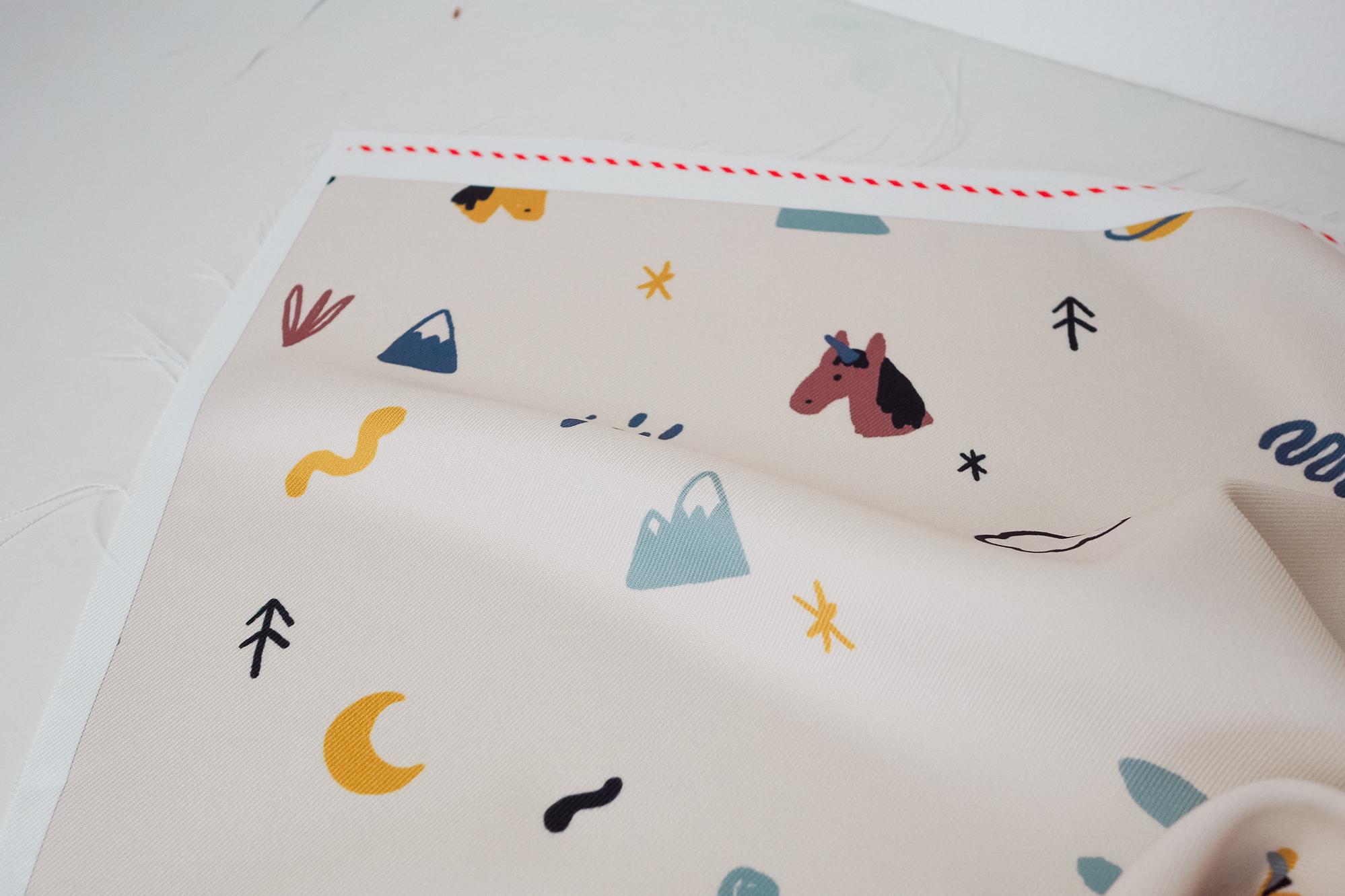 Tissu imprimé chez contrado avis test couture débutant