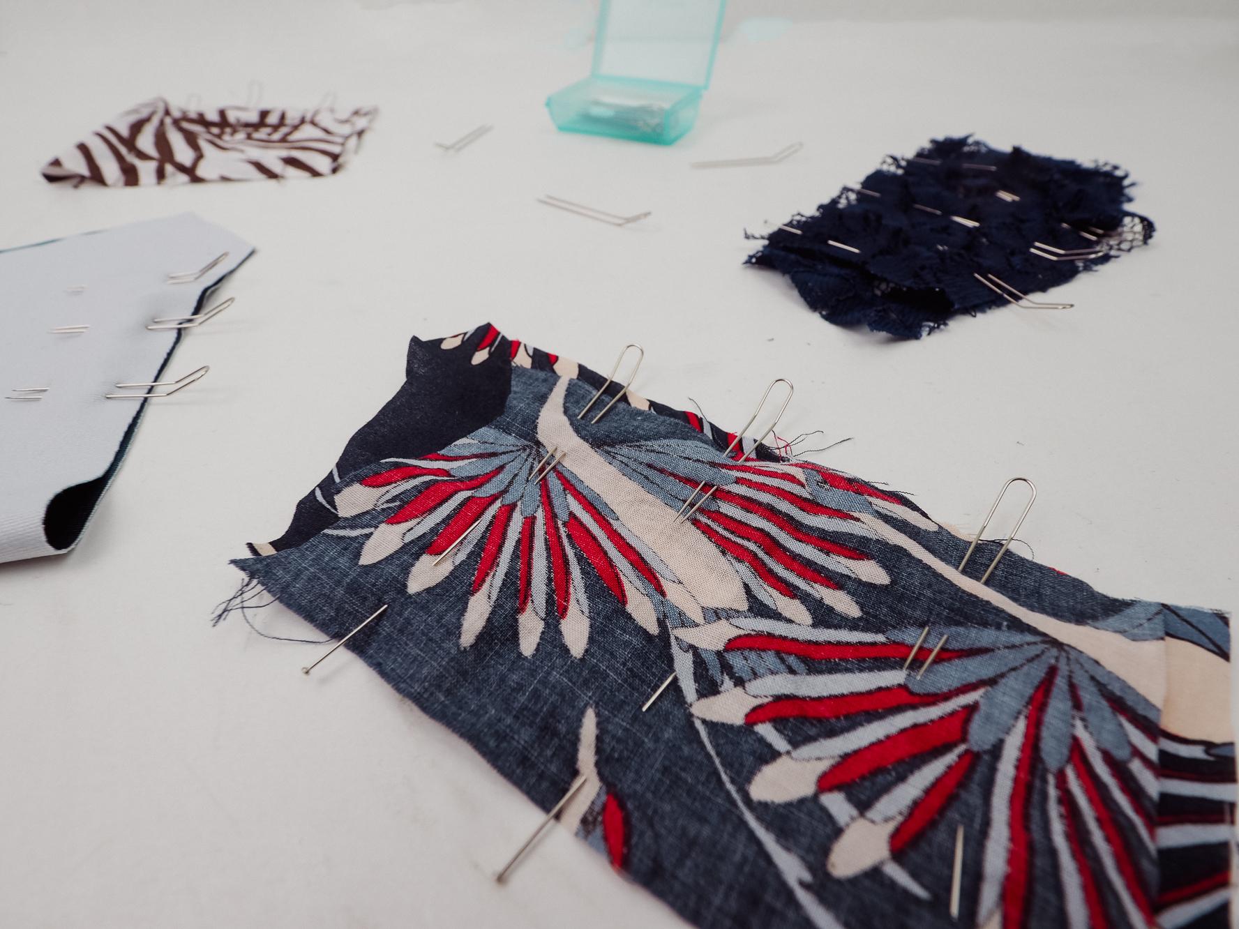 Test des épingles double en couture par couture debutant