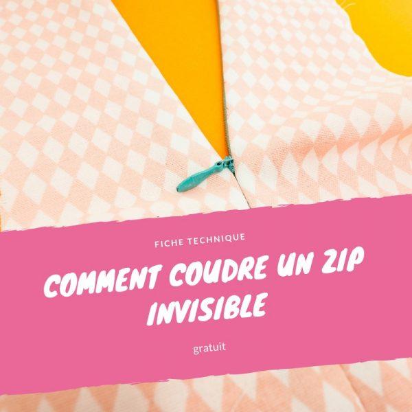 Tuto couture : coudre un zip invisible facilement