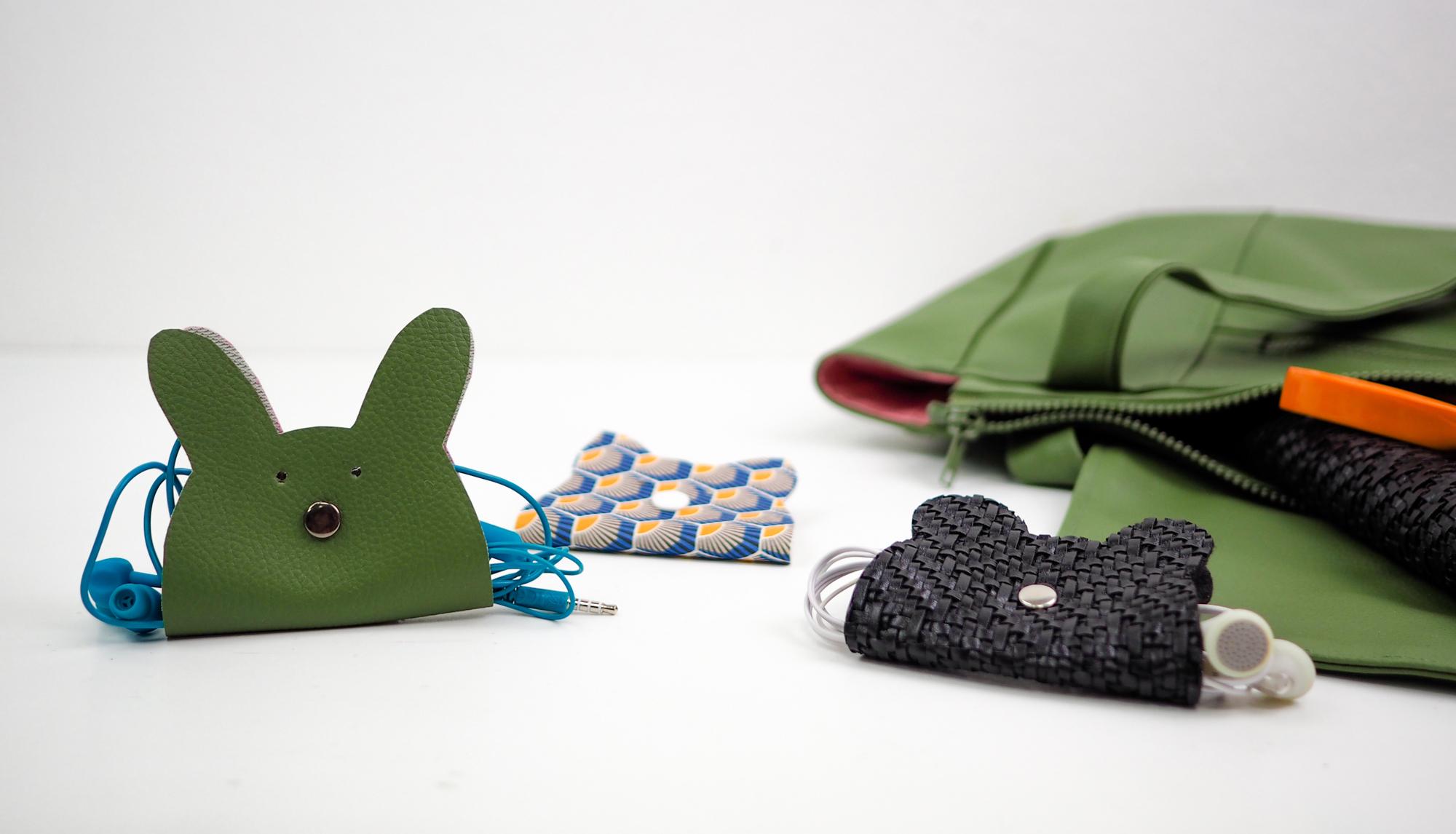 DIY tuto un protège écouteurs chat ours ou lapin