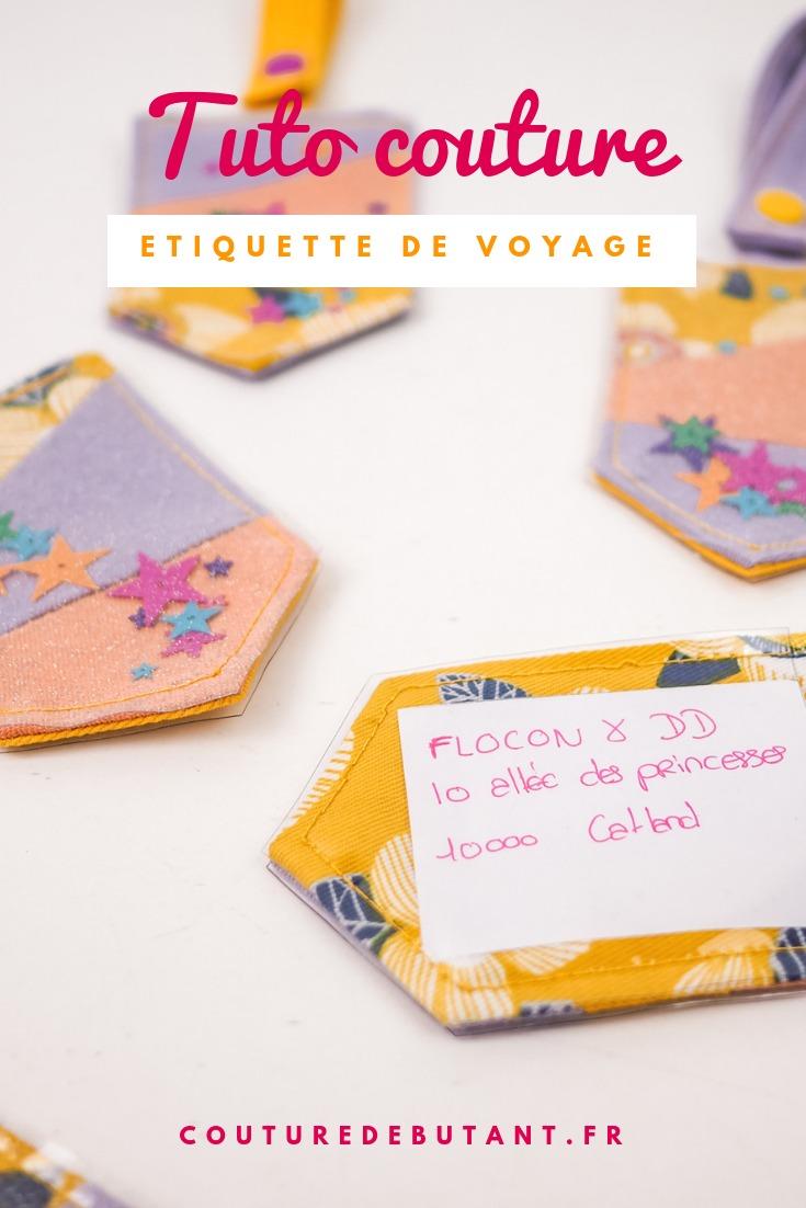 Tuto couture : étiquette voyage - couture débutant