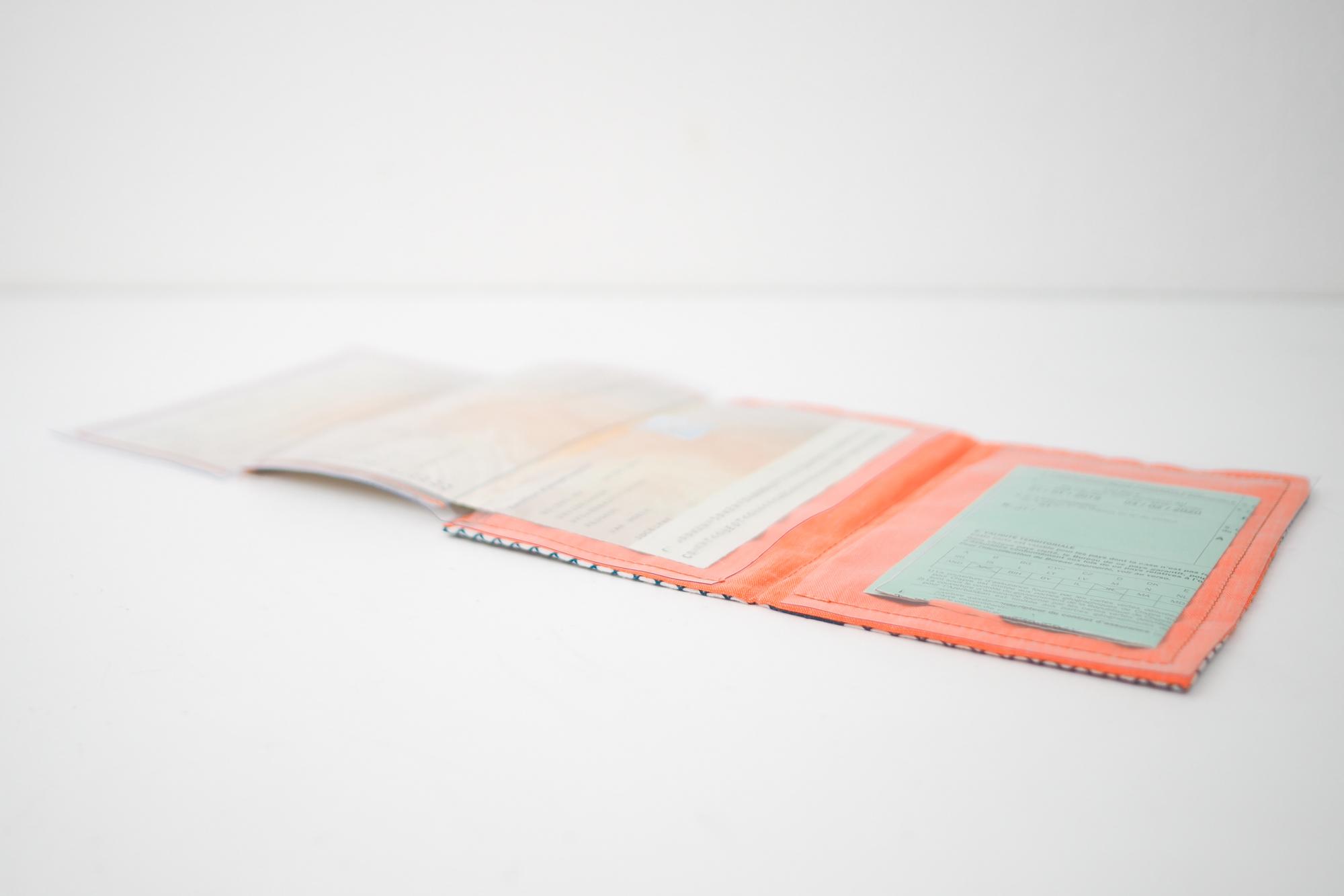 Tuto couture : coudre pochette pour les papiers de voiture