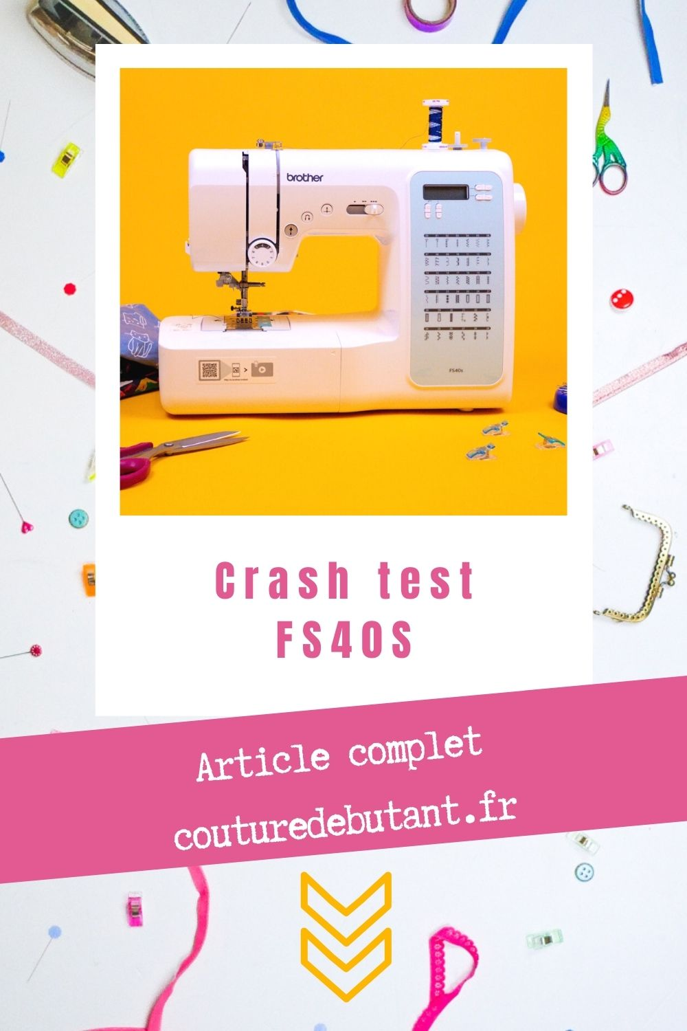 Test machine à coudre FS40S brother