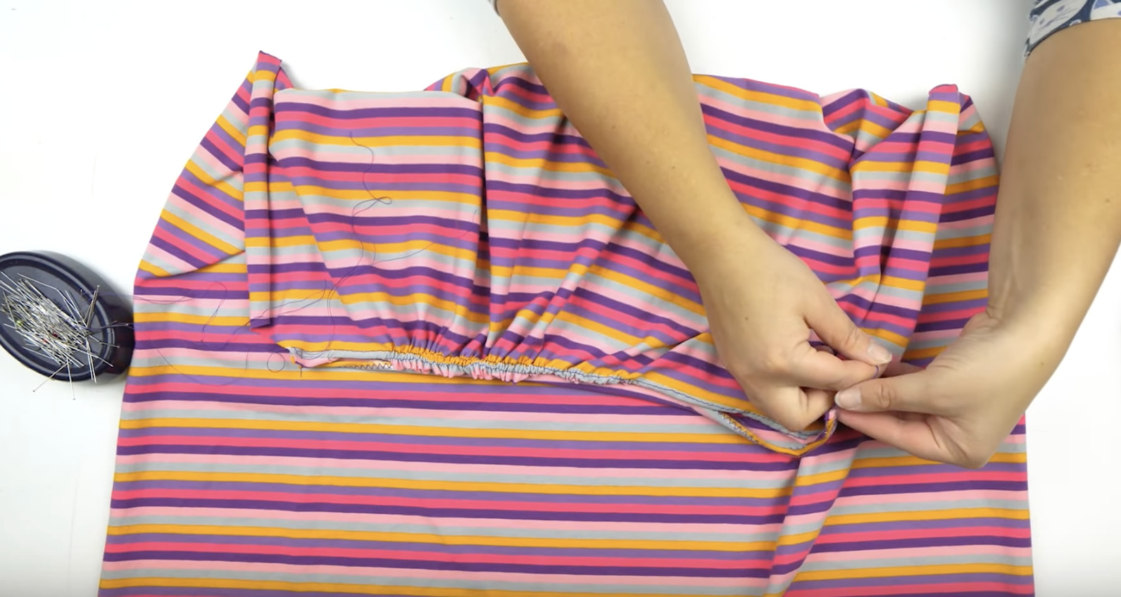 tuto couture comment froncer du jersey